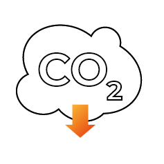 Icoon CO2-besparing