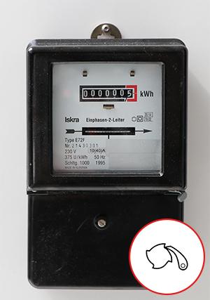 Voorbeeld Ferraris meter - geschikt voor zonnepanelen